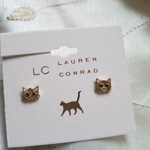 LC Lauren Conrad Dainty Cat Earrings